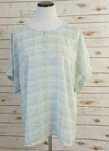 J. Crew Blouse Polka Dot Sheer Top Cuffed Sleeve